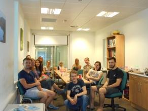 vane leaving group photo